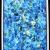 Blue sprinkles, 40x30