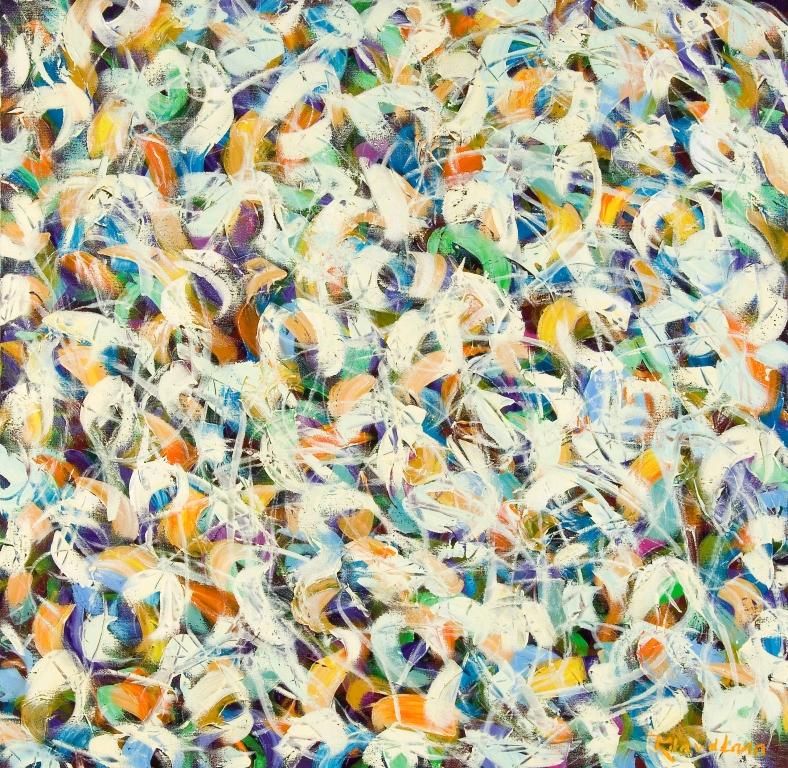 Mixed flower confetti, 100 x 100