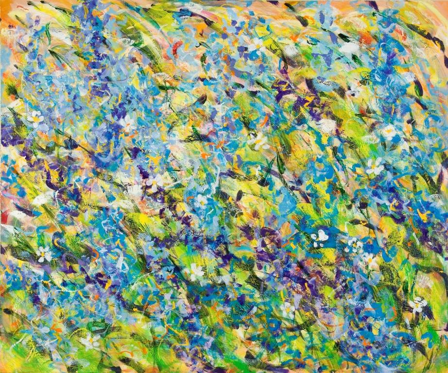 Flower field, 100 x 100