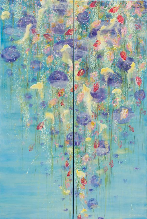 Wet flower composition tweeluik 1x, 120x40