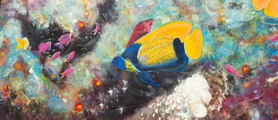 2D aquarium, 45x103