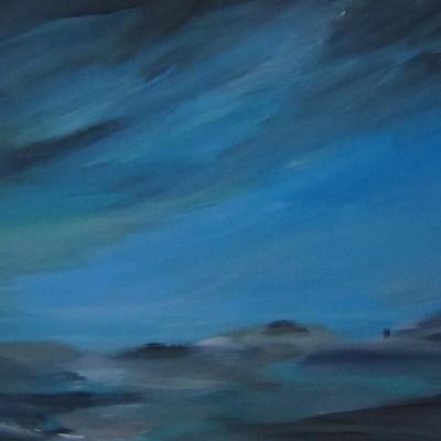 Blue beach, 70 x 90 cm
