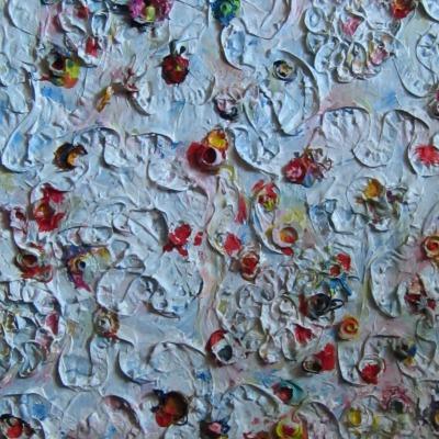 White sprinkles, 40 x 30 cm