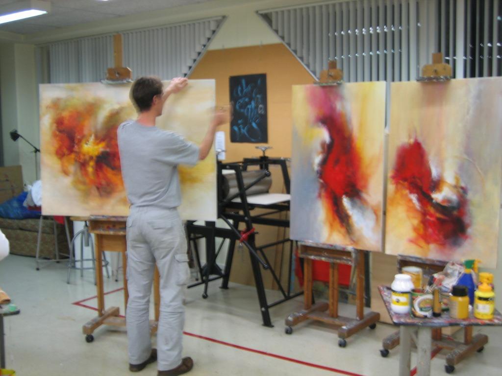 Schilderles op grote doeken
